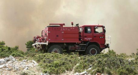 Σε εξέλιξη πυρκαγιά στην Αρτέμιδα