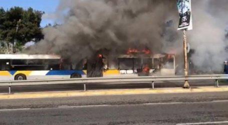 Φωτιά σε λεωφορείο στην Κηφισό