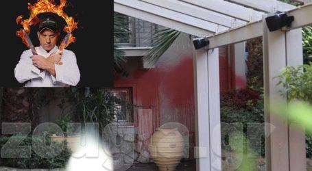 Επίθεση του Ρουβίκωνα στο εστιατόριο του Εκτορα Μποτρίνι στο Χαλάνδρι