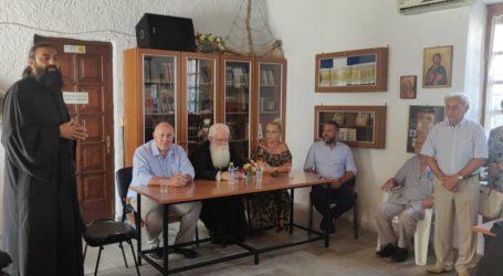 Ο Αλέξανδρος Μεϊκόπουλος στο Βένετο στα εγκαίνια της Λαογραφικής Συλλογής Βένετου