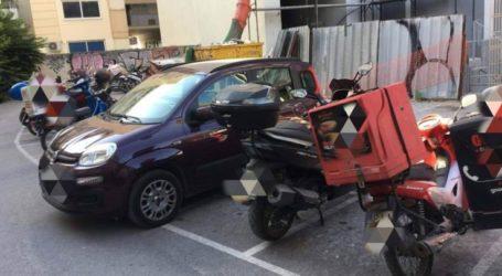 Απίθανος Λαρισαίος οδηγός στάθμευσε το αυτοκίνητό του στο Δημοτικό Πάρκινγκ για τα μηχανάκια (φωτο)