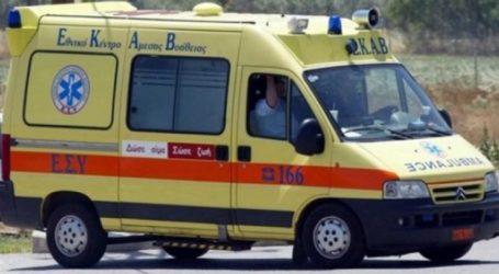 Σοβαρά τραυματισμένος στο Γενικό Νοσοκομείο Λάρισας άντρας μετά από πτώση στην Αγιά