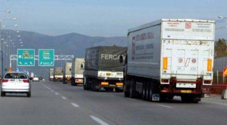 Απαγόρευση κίνησης φορτηγών στην εθνική οδό λόγω Δεκαπενταύγουστου