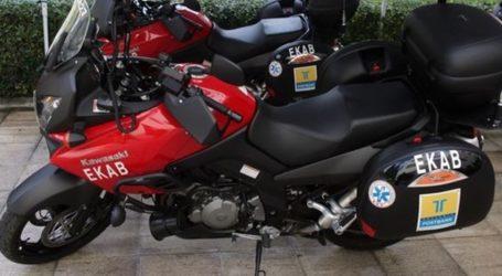 «Καθηλωμένη» στα γρανάζια της γραφειοκρατίας η μοτοσυκλέτα-δωρεά του ΕΚΑΒ Βόλου