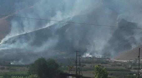 Μεγάλη φωτιά στον Τύρναβο (φωτο)