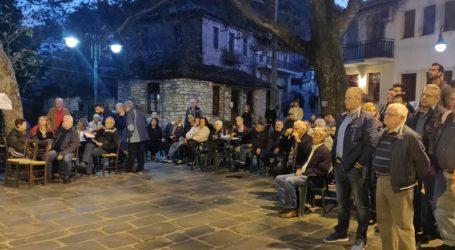 Ο Αλ. Μεϊκόπουλος στη συνέλευση των κατοίκων του Κεραμιδίου με θέμα τη διαφορά που έχει ανακύψει με τη Μονή Φλαμουρίου για τις καλλιεργήσιμες εκτάσεις