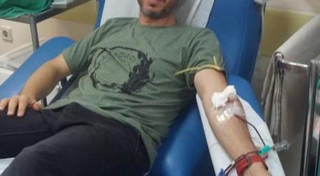 Στο Νοσοκομείο Βόλου ως αιμοδότης ο Αλκίνοος Ιωαννίδης