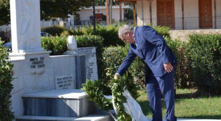 Στο μνημόσυνο εις μνήμη πατριωτών στο Ελευθέριο ο Θανάσης Νασιακόπουλος