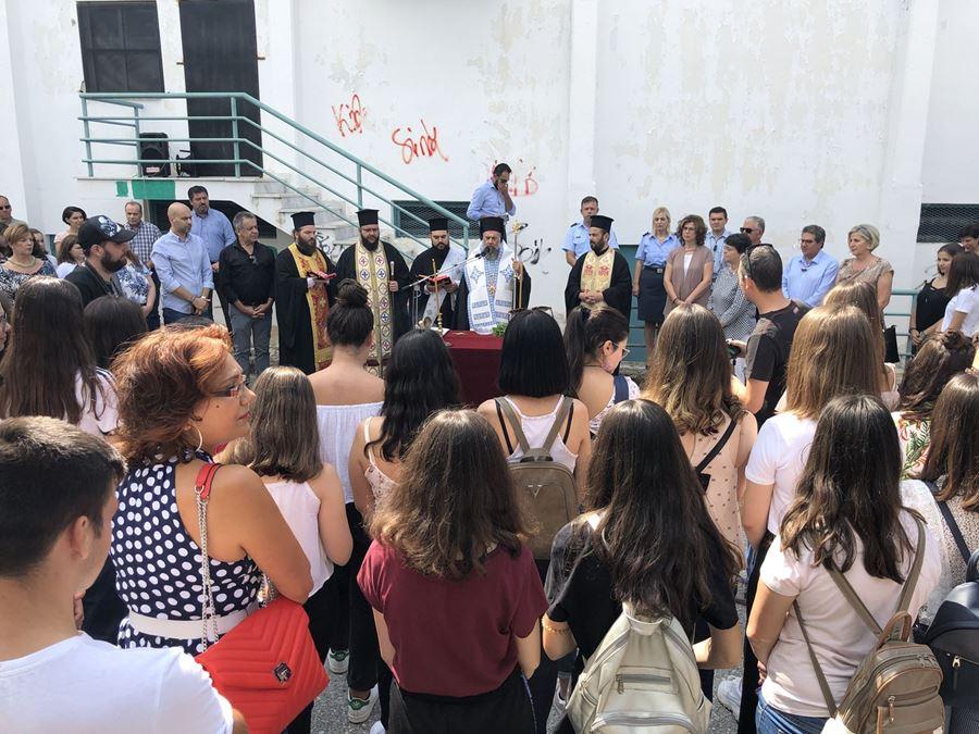 Στις τελετές αγιασμών σε Γυμνάσια και Λύκεια των Φαρσάλων ο Μάκης Εσκίογλου