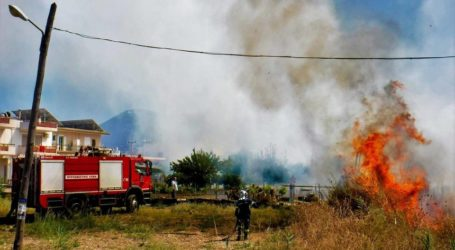 Νέα Αγχίαλος: Φωτιά σε οικόπεδο