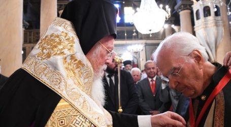 O Οικουμενικός Πατριάρχης τίμησε τον ομότιμο καθηγητή Χρήστο Γιανναρά