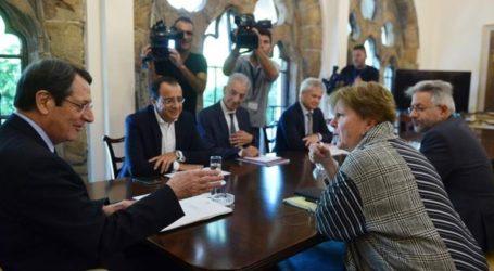 Κυπριακό: Ολοκληρώθηκε η συνάντηση Αναστασιάδη