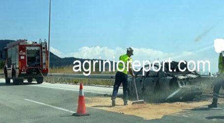 Kάηκε ολοσχερώς όχημα επί της Ιονίας Οδού Ηγουμενίτσας-Ιωαννίνων