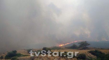 Ενισχύονται οι πυροσβεστικές δυνάμεις στην Κάρυστο