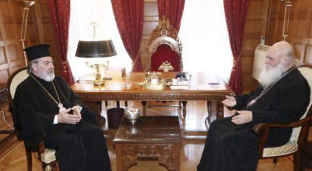 Συνάντηση Ιερώνυμου με τον Αρχιεπίσκοπο Θυατείρων και Μεγάλης Βρετανίας
