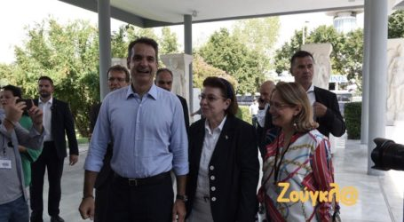 Επίσκεψη Κυρ. Μητσοτάκη στο Αρχαιολογικό Μουσείο Θεσσαλονίκης
