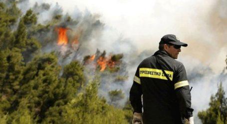 Οι περιοχές με υψηλό κίνδυνο εκδήλωσης πυρκαγιάς για αύριο Τετάρτη