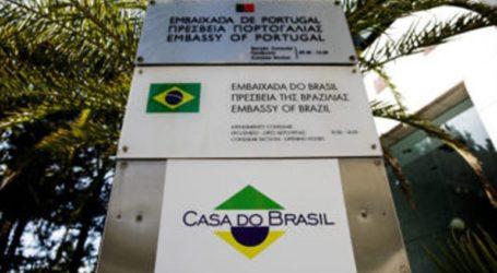 Παρέμβαση του Ρουβίκωνα στην Πρεσβεία της Βραζιλίας για τις φωτιές στον Αμαζόνιο