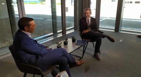 Συνάντηση του Αλέξη Τσίπρα με τον δήμαρχο Θεσσαλονίκης Κωνσταντίνο Ζέρβα