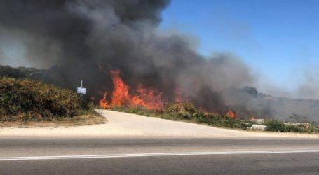Πυρκαγιά ξέσπασε κοντά στην Αρχαία Νικόπολη στην Πρέβεζα