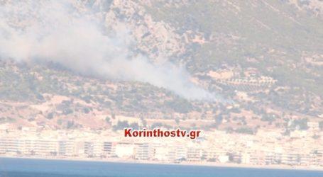 Σε εξέλιξη πυρκαγιά στο Λουτράκι
