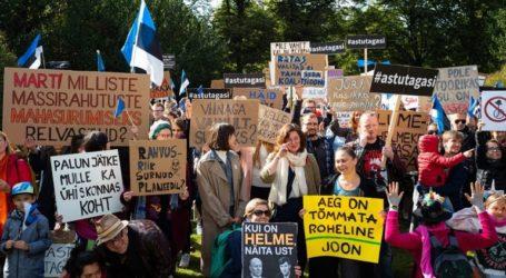 Διαδήλωση κατά του ακροδεξιού, αντιμεταναστευτικού κόμματος που μετέχει στην κυβέρνηση συνασπισμού