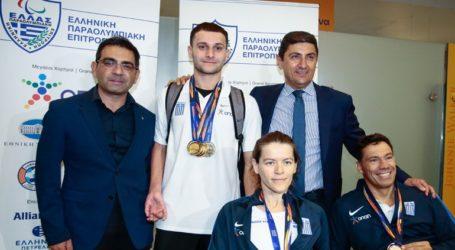 Ο Λ. Αυγενάκης υποδέχθηκε την αποστολή των Παραολυμπιονικών από το Παγκόσμιο Πρωτάθλημα κολύμβησης