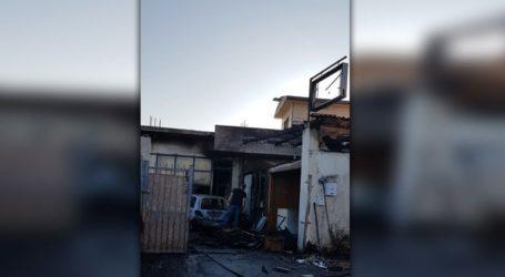 Φωτιά σε εργοστάσιο ξυλείας στον Μαραθίτη