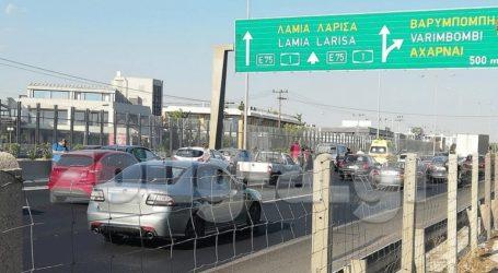 Καρέ – καρέ η στιγμή της σύγκρουσης τριών οχημάτων στην Ε.Ο. Αθηνών