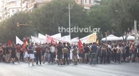 Πορεία στη μνήμη του Παύλου Φύσσα στο κέντρο της Θεσσαλονίκης