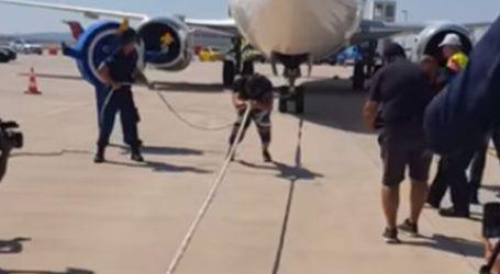 Απίστευτο! Ο αθλητής Δημήτρης Ράλλης τράβηξε αεροπλάνο 65 τόνων για φιλανθρωπικό σκοπό