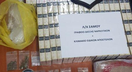 Συλλήψεις μεταναστών για καπνικά προϊόντα και ναρκωτικά στη Σάμο