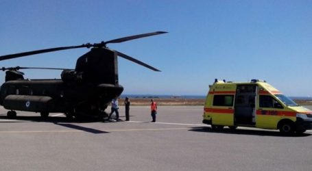 Στο Νοσοκομείο Χανίων με αεροδιακομιδή ασθενής από τα Αντικύθηρα