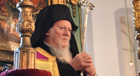 Ο Οικουμενικός Πατριάρχης στον πανηγυρίζοντα Ι.Ν. του Αγίου Φωκά Μεσαχώρου