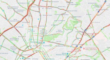 Έντονα προβλήματα στους δρόμους της Αθήνας