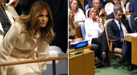 Οι πρώτες κυρίες της Ελλάδας και των ΗΠΑ στην αίθουσα της Γενικής Συνέλευσης του ΟΗΕ