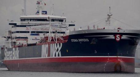 Το δεξαμενόπλοιο Stena Impero πλέει προς το λιμάνι Πορτ Ρασίντ