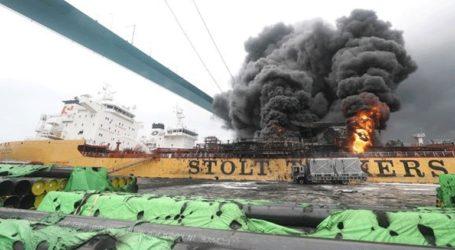 Δώδεκα τραυματίες από πυρκαγιά σε δεξαμενόπλοιο