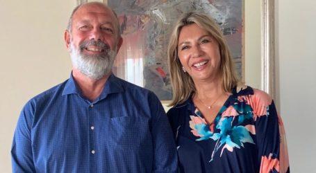 Με τον πρύτανη του Πανεπιστημίου Θεσσαλίας συναντήθηκε η Ζέττα Μακρή