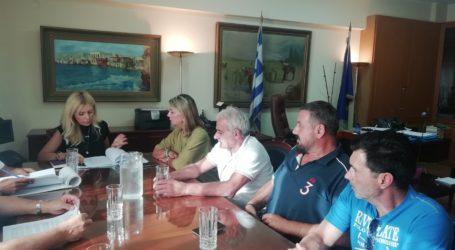 Συνάντηση της Ζέττας Μακρή με την Υφυπουργό Αγροτικής Ανάπτυξης και αλιείς του Νοτίου Πηλίου