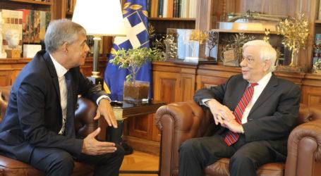 Κλιματική κρίση και Υποβρύχια Μουσεία στην ατζέντα της συνάντησηςτου Κ. Αγοραστού με τον Πρόεδρο της Δημοκρατίας