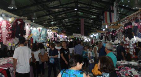 Κοσμοσυρροή στο παζάρι της Λάρισας το βράδυ της Κυριακής (φωτο)