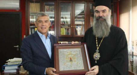 Συνάντηση του Κ. Αγοραστού με τον Σεβασμιότατο Mητροπολίτη Ελασσώνος κ. Χαρίτωνα