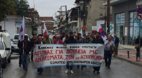 Απεργιακή συγκέντρωση πραγματοποιήθηκε στην Ελασσόνα