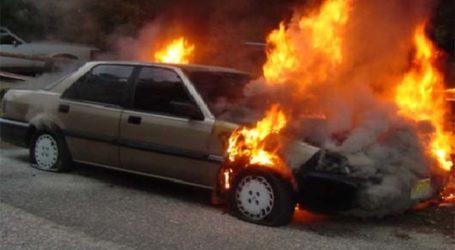 Τυλίχθηκε στις φλόγες αυτοκίνητο στα διόδια Μοσχοχωρίου