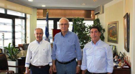 Συνάντηση Απ. Καλογιάννη με τον νέο δήμαρχο Τεμπών Κ. Μανώλη
