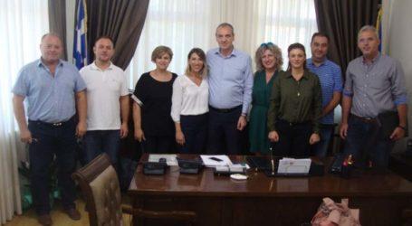 Συνάντηση Ν. Γάτσα με την διοίκηση του Εμπορικού Συλλόγου Ελασσόνας