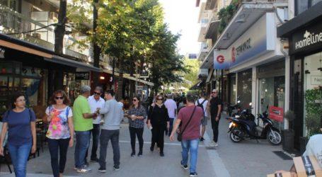 Εικόνες από την αγορά της Λάρισας
