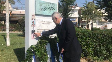 Ικανοποίηση Χαρακόπουλου για το μνημείο στη Γιάννουλη: Μνημείο έναυσμα για μελέτη της τοπικής ιστορίας