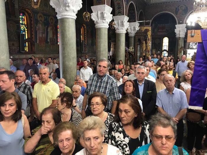 Η εορτή της Ύψωσις του Τιμίου Σταυρού στη Λάρισα (φωτο)